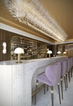 Mayfair Hotel - SHH Architects Bar - SHH Architects design the interiors of the bar and lounge in this Mayfair Hotel in London. Design Hotel, Bar Interior Design, Luxury Bedroom Design, Lounge Design, Restaurant Interior Design, Modern Interior, Blue Lounge, Beach Lounge, Small Lounge