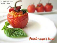 Pomodori ripieni di riso, ricetta #vegana