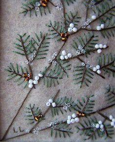 Christmas pine embroidery