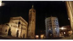 Parma's romanic square, the cathedral and baptistery dating back to 1200