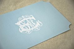 Absolutely loving the monogram look - so elegant - Stationery by Emma J Design.