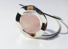 Bracelet plaqué argent et quartz rose
