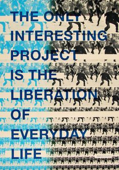 Situationists screen printed poster