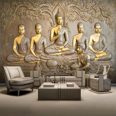 Wall Painting Living Room, 3d Wall Painting, Clay Wall Art, Abstract Wall Art, Buddha Painting, 3d Wall Murals, Mural Art, 3d Wallpaper For Walls, Photo Wallpaper