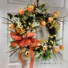 New spring tulip wreath.