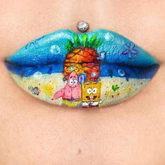 Cute Lipstick, Velour Liquid Lipstick, Lipstick Art, Lipstick Designs, Lip Designs, Makeup Designs, Cool Makeup Looks, Crazy Makeup, Unique Makeup