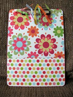 Controlling My Chaos: Altered Clipboards Mod Podge Crafts, Fun Crafts, Diy And Crafts, Crafts For Kids, Paper Crafts, Craft Gifts, Diy Gifts, Clipboard Crafts, Design Furniture