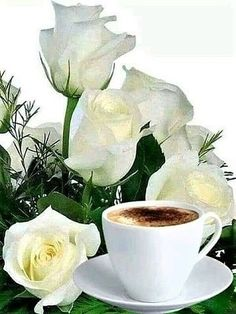 Good Day Coffee, Coffee Love, Good Morning, Morning Mood, Tea Cups, Candle Holders, Candles, Tableware, Tea Time