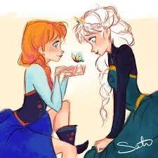 anna frozen disney fanart elsa okay i had a bad day and needed to draw something cute Walt Disney, Disney Films, Disney And Dreamworks, Disney Magic, Disney Pixar, Disney Characters, Anna Frozen, Frozen Art, Disney Frozen