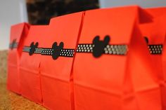 Mickey party favor bag