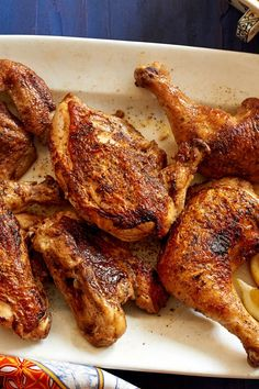 NYT Cooking: Ruth Reichl developed this crispy, spicy chicken after eating pollo alla diavola at Lupa restaurant in New York. The actual cooking time is short, but the recipe does require… Cooking Time, Cooking Recipes, Healthy Recipes, Meat Recipes, Top Recipes, What's Cooking, Chicken Recipes, Chicken Diavolo Recipe, Restaurant New York