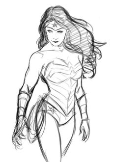Wonder Woman sketch by Gabriel Guzman by ~SpaceGoatProductions