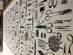 Haberdashery inspired fabric print.