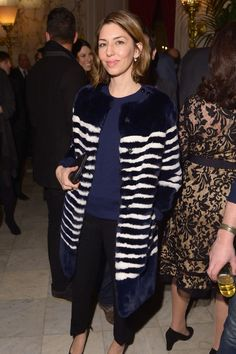 Sofia Coppola attends the after party following the 'Monuments Men' premiere on February 4, 2014.