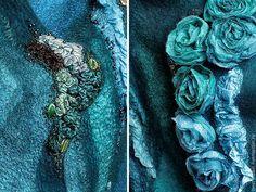 """Жилет """"Кассиопея"""" - морская волна,валяный жилет,жилет,жилет валяный,авторская ручная работа"""