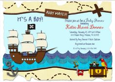 pirate baby shower invitations 3