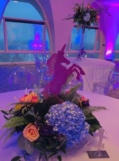 Lets customize your centerpieces with your theme! Check out these glitter Unicorns!