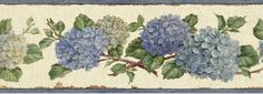 Unique Gifts, Decor, Wallpaper for Home - Gifted Parrot Blue Hydrangea Wallpaper Border Wallpaper Stores, Home Wallpaper, Wallpaper Borders, Hydrangea Wallpaper, Red Hydrangea, Hydrangeas, Wildlife Wallpaper, Brewster Wallpaper, Home Gifts