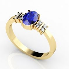 0.65 Carat Oval Tanzanite #Ring in 14k Yellow Gold, Price: $1557.