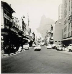 Rua São Clemente em Botafogo esquina com Praia de Botafogo. Anos 70.