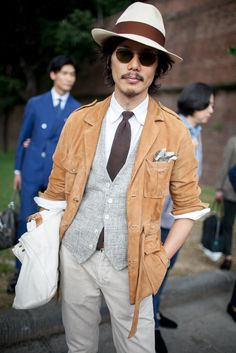 On the streets of florence at the Pitti Uomo show.