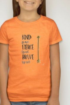 Be Kind - Fierce - Brave tee.  Be your best self!