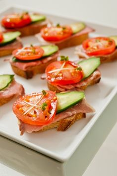 Open faced roast beef sandwiches - another option to keep crock pots off the table.