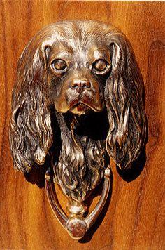 Cavalier King Charles sculpted door knocker by SCULPTORSSTUDIO