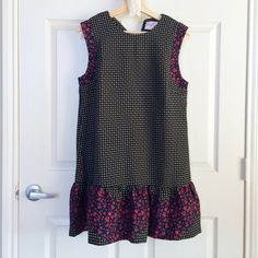 Mixed Print Drop Waist Dress Mixed print (graphic + floral) drop waist flare dress. Floral detailing on skirt as well as sleeve. NWT, never worn, perfect condition. Dresses Mini