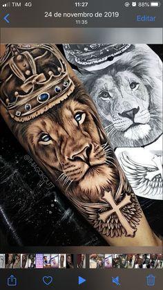 Clock Tattoo Sleeve, Half Sleeve Tattoos Forearm, Half Sleeve Tattoos Drawings, Animal Sleeve Tattoo, Lion Tattoo Sleeves, Forarm Tattoos, Full Sleeve Tattoos, Tattoo Sleeve Designs, Leg Tattoos