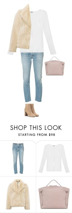 """""""Untitled #2692"""" by yuenchewwan ❤ liked on Polyvore featuring RE/DONE, Frame, Whistles, Jil Sander and Yves Saint Laurent"""