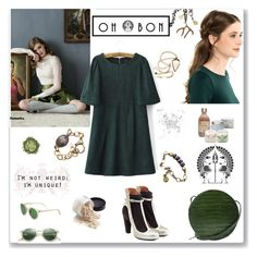"""""""Ohbon Midnight Stag"""" by ludmyla-stoyan ❤ liked on Polyvore featuring Maison Margiela, MANGO, Oliver Peoples, women's clothing, women's fashion, women, female, woman, misses and juniors"""