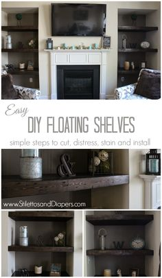 Stilettos and Diapers: DIY Built-in Floating Shelves
