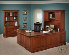 traditional executive office decor | Buckingham Executive Office Set