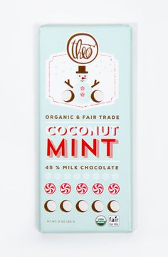 My favorite out of the Theo Holiday collection -  Coconut Mint - #packaging #design