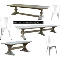 """MALVINI MONASTERY TABLES OR TRESTLE TABLES."