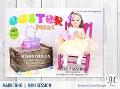 Colorful Easter Mini Session Template by BreezyColorsDesign