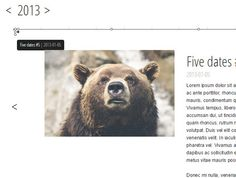 A simple jQuery plugin to create a horizontal timeline that displays details of your events in a content slider.