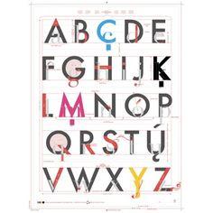 アルファベットデザイン by POP CHART LAB
