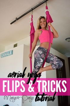 Aerial Yoga Flips & Tricks Tutorial with Margie Pargie. Another great tutorial from Margie Pargie! Let's yoga baby # mamma ♥️ShesChasingZen Pilates Workout, Pilates Reformer, Yoga Workouts, Photo Yoga, Aerial Yoga Hammock, Yoga Posen, Aerial Silks, Aerial Dance, Yoga At Home