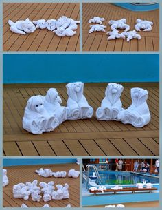 Holidays, Homeschool, & Home:  How to make Cruise Towel Animals http://www.FoldingMagic.com