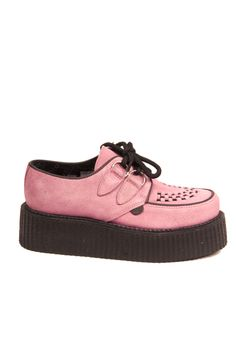 ce3e4e5f671 Underground Wulfrun Pink Double Sole Creepers Underground Creepers