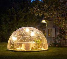 Hum soirée romantique dans son igloo de jardin :)  #serre géodésique #igloo de jardin #jardin #igloo