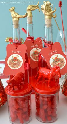 Tracy Paul African Christmas Tags adorn animal jars from www.macaroon.co.za