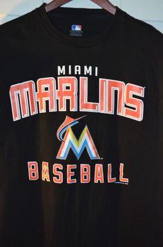 MLB Baseball Miami Marlins T-Shirt Tee Size Medium M Genuine Merchandise Great #MLB #MiamiMarlins