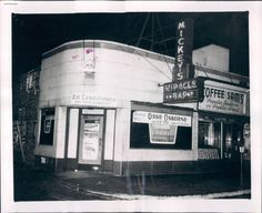 Shot of Mickey's Miracle Bar, which stood at 1114W Argyle, c.1956. This is a police photo, taken just after a shooting. Notice who's headlining…Ossie Osborne (and his trio)!