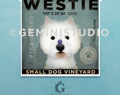 Jack Russell Wine Company original graphic by geministudio on Etsy