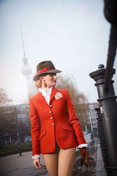Salzburg, Elegant, Glasgow, Tweed, Blazer, Orange, Outfits, Women, Style