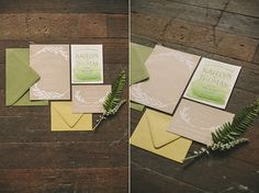 Obsessed with the invitations featured in our '14 Summer Editorial by Pink Piggy Design.