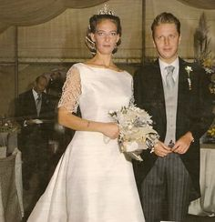 Mafalda di Savoia Aosta (1969) sposa Alessandro Ruffo di Calabria (1964), a San Giustino Valdarno, nel 1994.